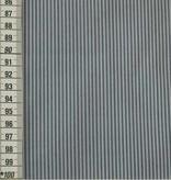 12€ Per Meter - Grijze Strepen - Bedrukte Katoen