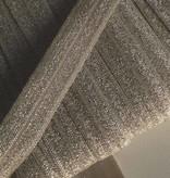 0.80€ p/m - Beige - Elastische Glitter Biaisband