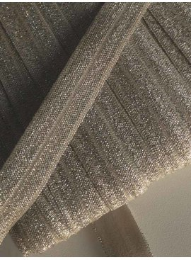 0,80€ Per Meter - Beige - Elastische Glitter Biaisband
