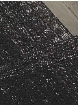 0,80€ Per Meter - Zwart - Elastische Glitter Biaisband