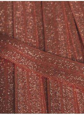 0,80€ Per Meter - Lichtroze - Elastische Glitter Biaisband