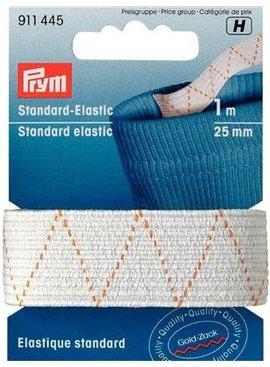 Prym Standaard elastiek - 25mm  op 1m - Wit