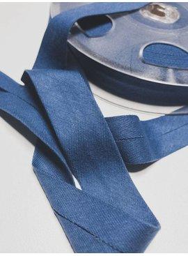 Fillawant 1.40€ p/m - Blauw - Jersey Biaisband