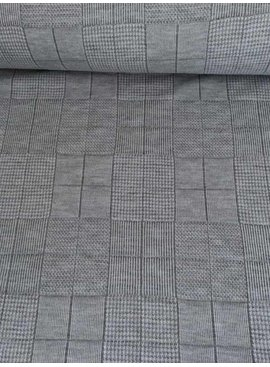 POPPY 8,50€ p/m - Jersey Quilt Grey - Sweaterstof