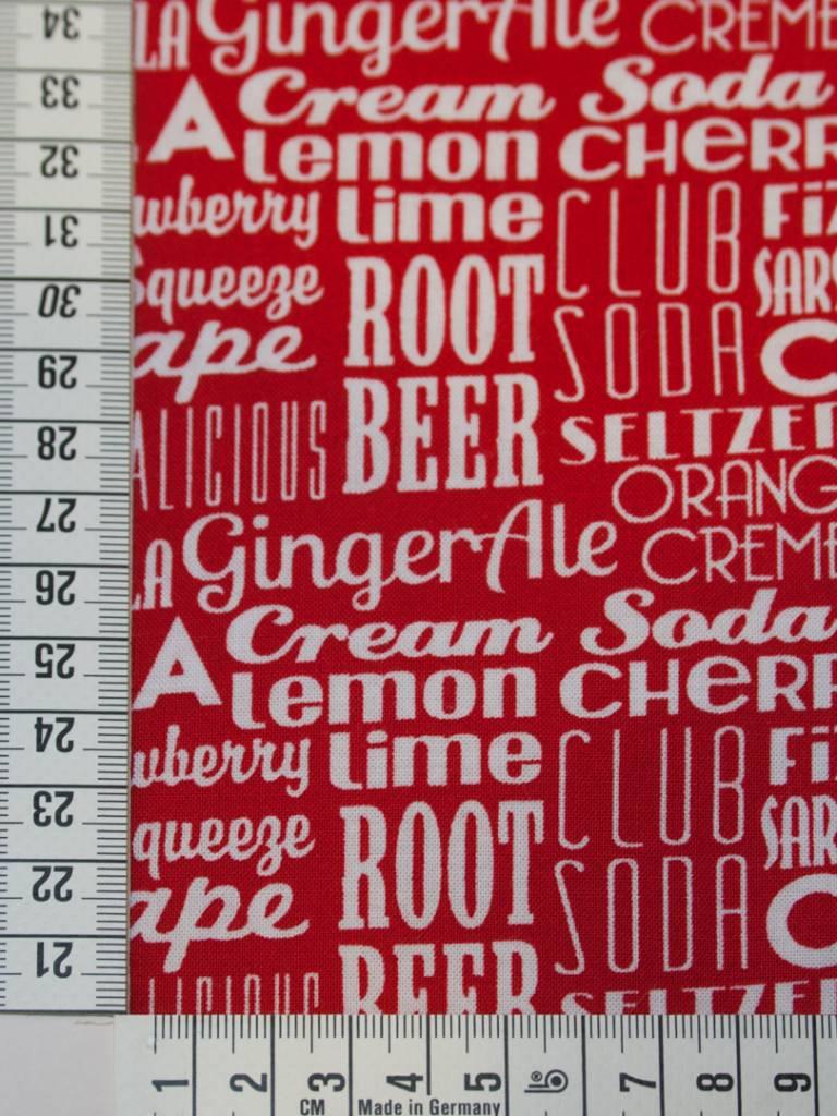 80cm op 1,1m Sodalicious Cherry - Michael Miller