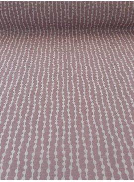 7€ p/m - Flow Dots - Oudroze - Decoratiestof