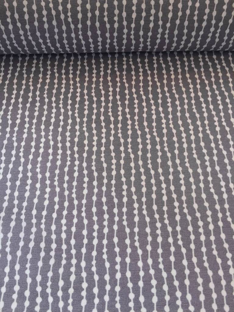 7€ p/m - Flow Dots - Grijs - Decoratiestof