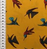 8€ Per Meter - Vogels Mosterdgeel - Pearl Peach