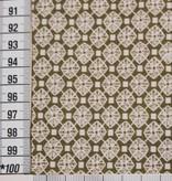 Nooteboom 2.20m op 1.5m - diamonds green - Elastisch Katoen