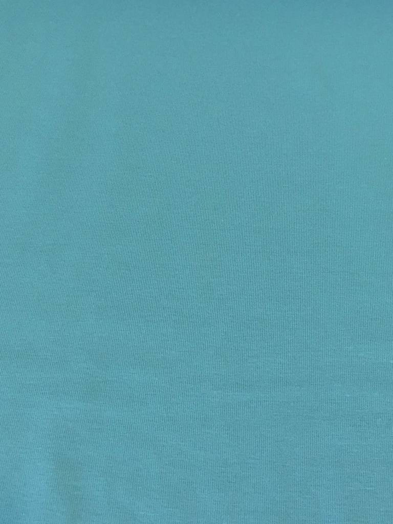 10€ Per Meter - Dolfijn Blauw - Effen Tricot
