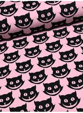 14€ Per Meter - Smiling Cats - Bedrukte Tricot