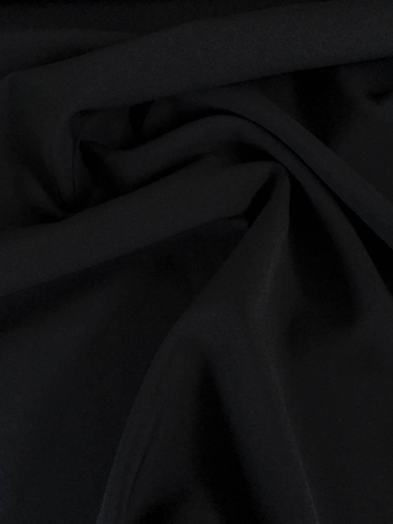 12,50€ p/m - Zwart - Zomer Gabardine Dicht Geweven