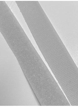 2,7€ p/m - Licht grijs - Klittenband Opnaaibaar