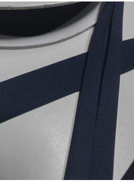 2.30€ p/m - Marine - Elastische Polyester Biaisband