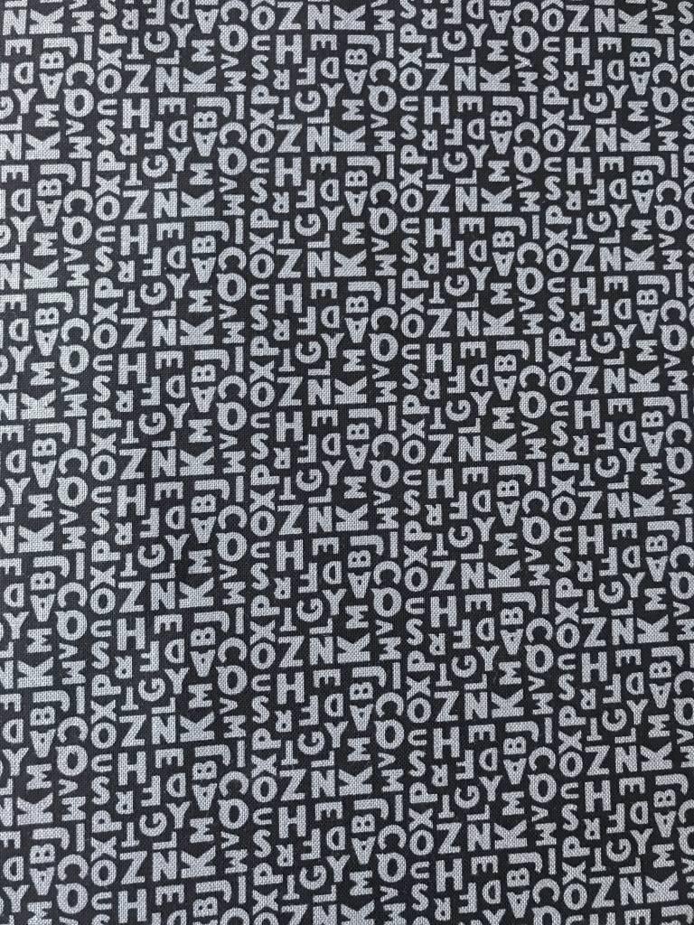 Michael Miller 0,5m op 1,1m - Letters - Bedrukte Katoen