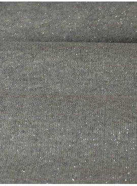 14€ p/m - Glitter Grijs - Sweaterstof