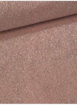 14€ p/m - Glitter Babyroze - Sweaterstof