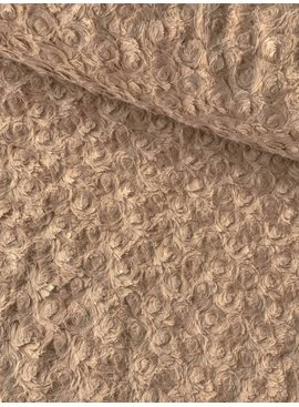 15€ p/m - Stitched Roses Beige - Imitatiebont