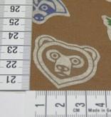 0.5m op 1.5m - Fleece Borg Bruin Dieren