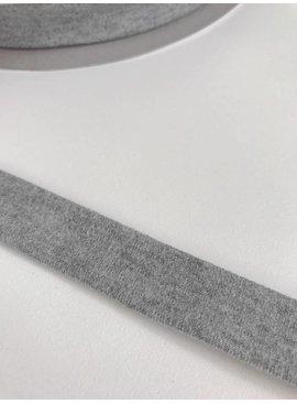 1.50€ p/m - Lichtgrijs Melêe - Tricot Biaisband