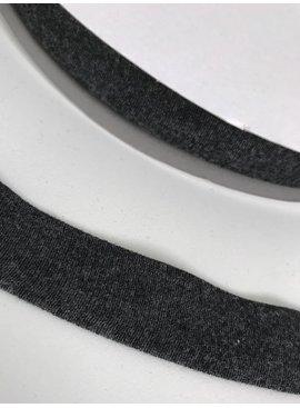 1.50€ p/m - Donkergrijs Melée - Tricot Biaisband