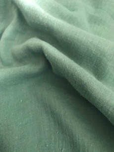 9€ p/m - Groen - Hydrofiel Stof