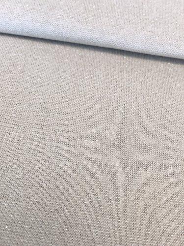 11,50€ p/m - Lichtgrijs Glitter Zilver - Boordstof