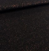 11,50€ p/m - Zwart Glitter Brons - Boordstof