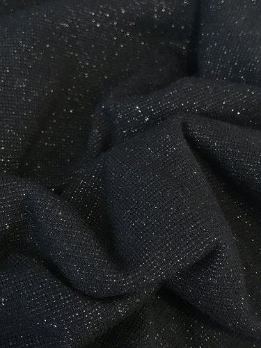 11,50€ p/m - Zwart Glitter Zilver - Boordstof