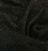 11,50€ p/m - Zwart Glitter Goud - Boordstof