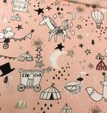 Poppy 8,50€ p/m - Circus Star Glitter Roze - Bedrukte Katoen