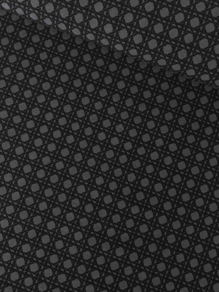 10,50€ p/m - Grijs Zwarte Vierkantjes - Elastisch Katoen