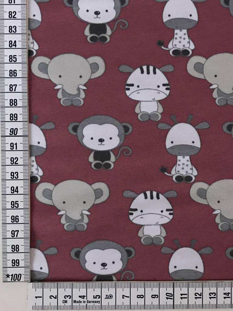 11,50€ p/m - Oudroze Baby Safari - Bedrukte Tricot
