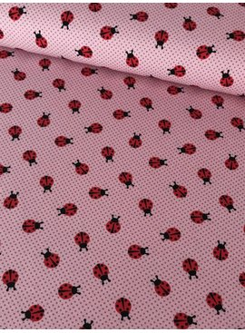 11,50€ p/m - Roze Lieveheersbeestjes - Bedrukte Tricot