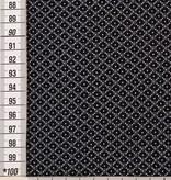 10,50€ p/m - Donker Retro Motief - Viscose Tricot