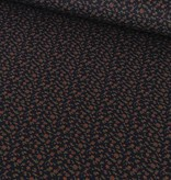 2,00m x 150cm - Roosjes op Marine - Viscose Tricot
