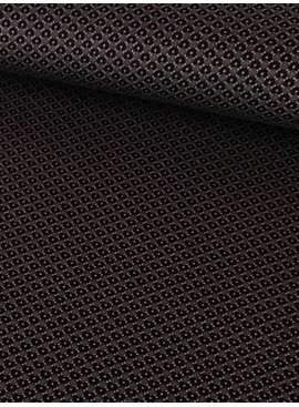 1,3m x 150cm - Bruin Roze Retro Motief - Viscose Tricot