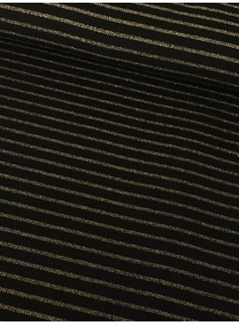 16,50€ p/m - Zwart Gouden Strepen - Gebreid