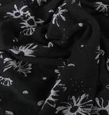 13,50€ p/m - Zwart Grijs Bloemen Structuur - Punta Di Roma