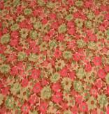 Polytex 1,9m op 1,5m - Bloemen Katoen - Bedrukte Katoen