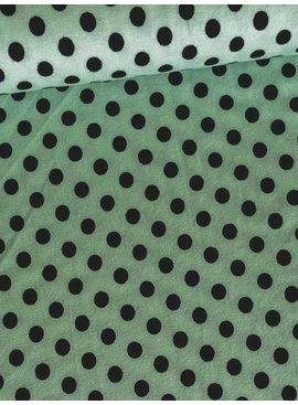 Nooteboom 0.95m op 1.5m - Polkadot Mint - Viscose Tricot