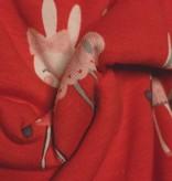 14€ p/m - Konijntjes Rood - Bedrukte Tricot