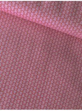 Michael Miller 0,4m op 1,1m - Uppercase Pink - Bedrukte Katoen