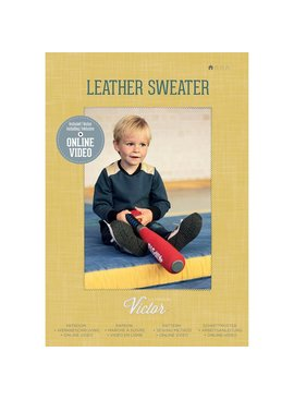 La maison victor Naaipatroon Leather Sweater