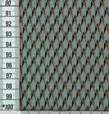 12,50€ p/m - Retro Blauwgrijze Ruit - Elastisch katoen