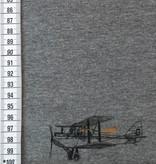 Mies en Moos 19€ p/m - Vliegtuig op Grijs - Joggingstof