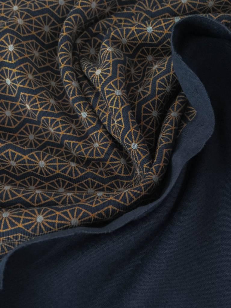 14€ p/m - Marrakesh Blue - Bedrukte Tricot