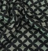11,50€ p/m - Zwarte Retro Bloemblaadjes - Punta Di Roma