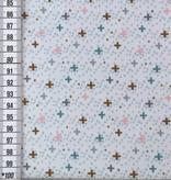 16,50€ p/m - Gekleurde Kruisjes - Softshell