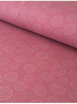 13,50€ p/m - Roze Bolletjes Cirkel - Alpenfleece